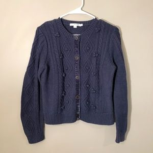 Boden | Cable Knit Wool Blend Cardigan Sz 10